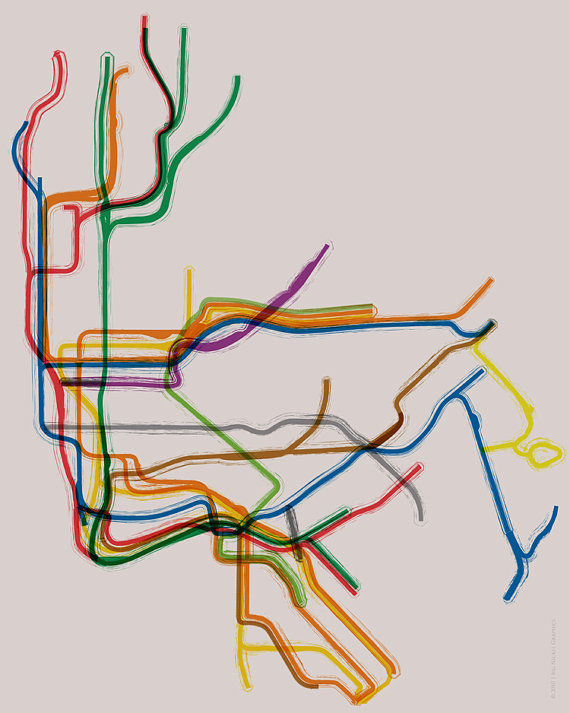 To Scale Nyc Subway Map.Nyc Line Sparkle Is The New Black