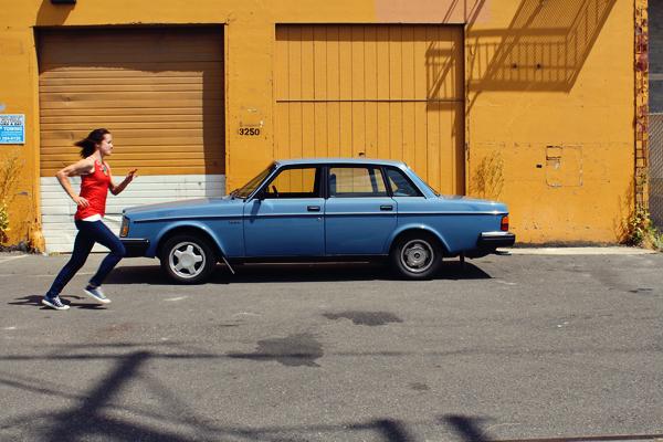 Lady Blue Volvo // photoshoot