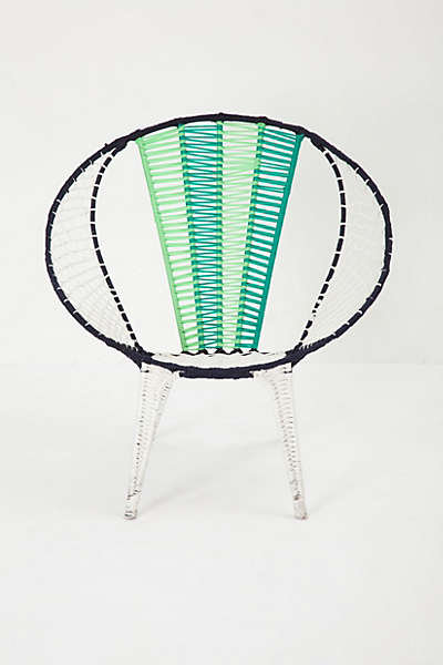 Colorblocked Basket Chair