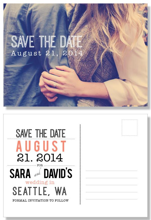 Sara + David // save the date