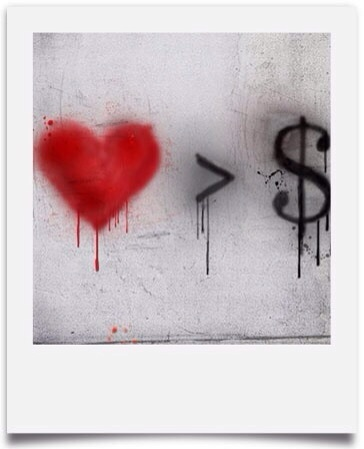 Love over Money Polaroid