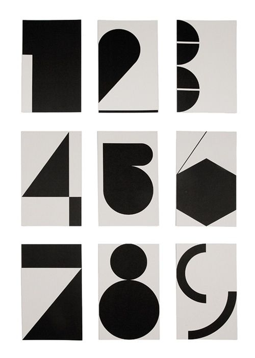 black and white typography